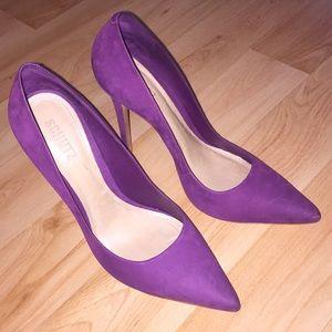 Schutz Purple Suede Pointed Toe Heels Size 9.5